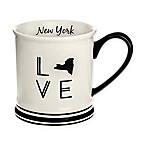 Formations New York State Love Mug in Black and White