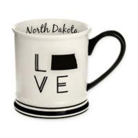 Formations North Dakota State Love Mug in Black and White