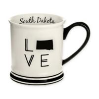 Formations South Dakota State Love Mug in Black and White