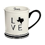 Formations Texas State Love Mug in Black and White