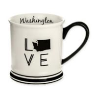 Formations Washington State Love Mug in Black and White