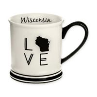 Formations Wisconsin State Love Mug in Black and White