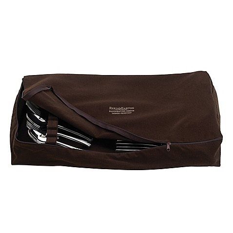 Reed Amp Barton Zippered Flatware Drawer Liner In Brown