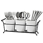 B. Smith 4-Piece Flatware Caddy in White