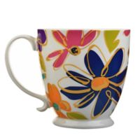 Formations Sketched Flowers Footed Mug