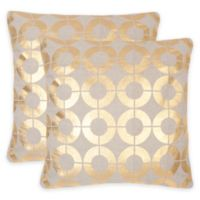 Safavieh Bailey 22-Inch x 22-Inch Throw Pillow in Gold (Set of 2)