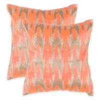 Safavieh Boho Chic Throw Pillow in Neon Tangerine (Set of 2)