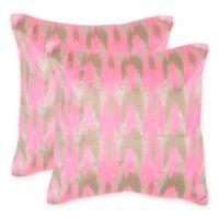Safavieh Boho Chic Throw Pillow in Neon Petunia (Set of 2)