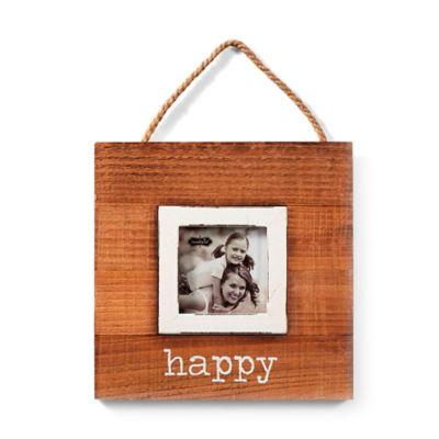 mud pie happy 3 inch x 3 inch hanging picture frame - Mud Pie Frames