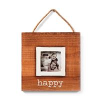 "Mud Pie® ""Happy"" 3-Inch x 3-Inch Hanging Picture Frame"