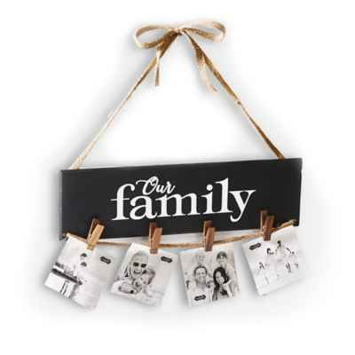 "Mud Pie ""Our Family"" Clothespin Hanging Photo Holder"