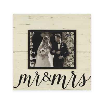 "Mud Pie® ""Mr. & Mrs."" 8-inch x 10-inch Picture Frame"