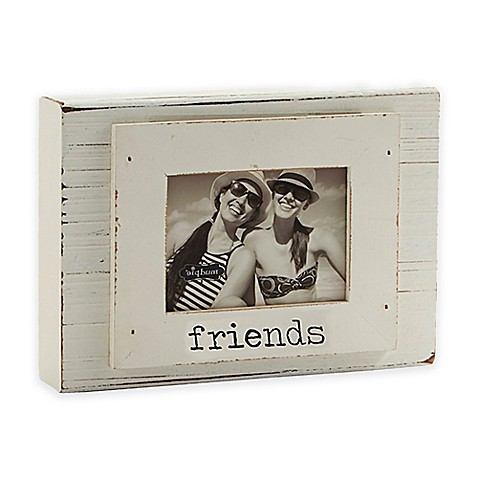 Mud Pie 174 Quot Friends Quot 3 Inch X 4 Inch Wood Block Photo Frame