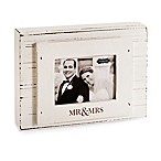 "Mud Pie® ""Mr. & Mrs."" 3-Inch x 4-Inch Block Picture Frame"