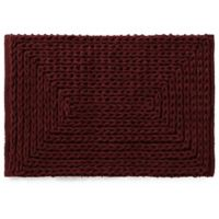 VCNY Barron Cotton Chenille 17-Inch x 20-Inch Bath Rug in Red