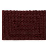 VCNY Barron Cotton Chenille 20-Inch x 30-Inch Bath Rug in Red