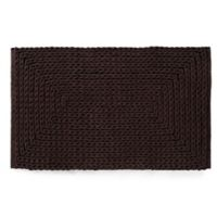VCNY Barron Cotton Chenille 20-Inch x 30-Inch Bath Rug in Chocolate
