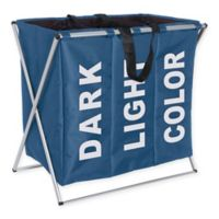 Wenko Trio Laundry Bin in Blue