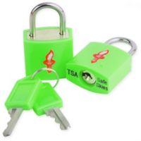 Safe Skies® TSA-Recognized Keyed Padlock (Set of 2) in Green