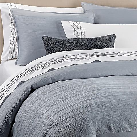 Vera Corrugated Texture Duvet Cover In Blue