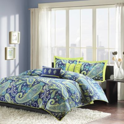 buy intelligent design tanya twin twin xl duvet cover set in blue from bed bath beyond. Black Bedroom Furniture Sets. Home Design Ideas