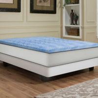 Independent Sleep 2.5-Inch Memory Foam with Gel Convoluted King Mattress Topper