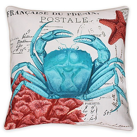 Throw Pillow In French : French Coastal Crab Throw Pillow - Bed Bath & Beyond