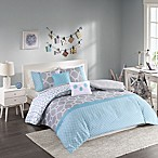 Intelligent Design Clara Full/Queen Duvet Set in Blue