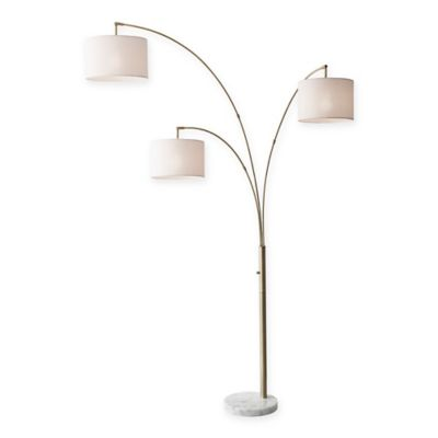 Buy arc floor lamps from bed bath beyond for Arc floor lamp with fabric shade