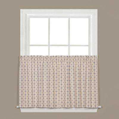 Crosswalk 24 Inch Kitchen Window Curtain Tier Pair In Navy