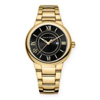 Philip Stein Active Ladies' 36mm Black Dial Watch in Gold-Plated Stainless Steel