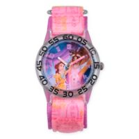 Disney® Beauty and the Beast Children's Rose Time Teacher Watch in Clear Plastic w/Nylon Strap