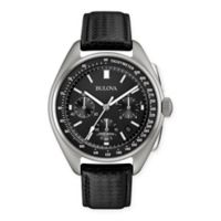 Bulova Special Edition 45mm Men's Moon Landing Chronograph Watch in Stainless Steel w/Leather Strap