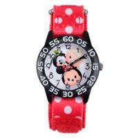 Disney® Tsum Tsum Children's Minnie and Pals Time Teacher Watch in Plastic w/Red Nylon Strap
