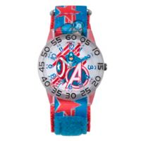 Marvel® Avengers Children's Captain America Shields Time Teacher Watch in Plastic w/Nylon Strap