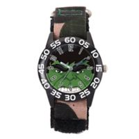 Marvel® Avengers Children's The Hulk Time Teacher Watch in Black Plastic w/Camo Nylon Strap