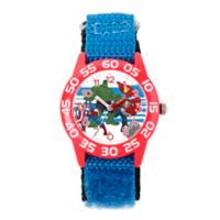Marvel® Avengers Children's Team Time Teacher Watch in Red Plastic w/Blue Nylon Strap