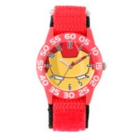 Marvel® Iron Man Children's Eye Mask Time Teacher Watch in Red Plastic w/Red Nylon Strap