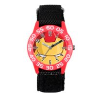 Marvel® Iron Man Children's Eye Mask Time Teacher Watch in Red Plastic w/Black Nylon Strap