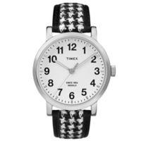 Timex® Originals Watch with Houndstooth Black/White Strap