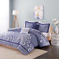 Intelligent Design Isabella 5-Piece Full/Queen Comforter Set in Blue