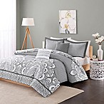 Intelligent Design Isabella 5-Piece Full/Queen Comforter Set in Grey