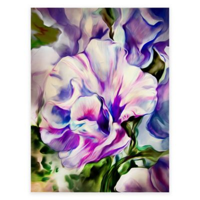 Purple Morning Glory All Weather Outdoor Canvas Wall Art