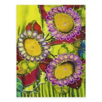 Fanciful Flowers All-Weather Outdoor Canvas Wall Art