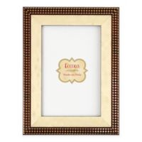 Eccolo™ 8-Inch x 10-Inch Gold Onlay Houndstooth Picture Frame in Brown