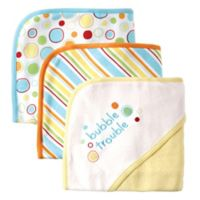 Babyvision® Luvable Friends® 3-Pack Embroidered Hooded Towel Set in Yellow
