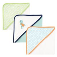 BabyVision® Luvable Friends® 3-Pack Dinosaur Hooded Towel in Blue