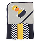 BabyVision® Luvable Friends® Duck Hooded Towel and 5-Piece Washcloth Set