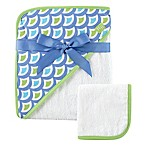 Baby Vision® Hudson Baby® Waves Hooded Towel and Washcloth Set in Green