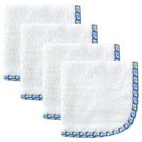 Babyvision® Hudson Baby® 4-Pack Lattice Woven Washcloth in White